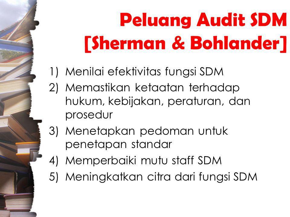 Peluang Audit SDM [Sherman & Bohlander]